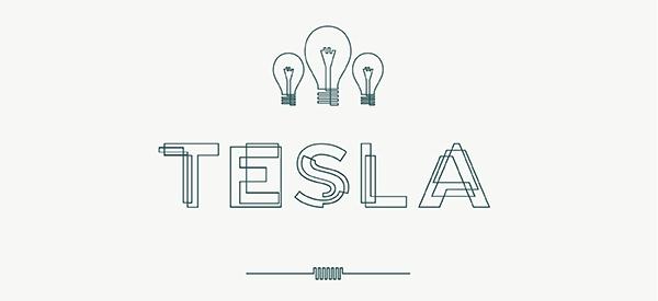30 Koleksi Font Terbaik untuk Desain - Tesla Font Free Font