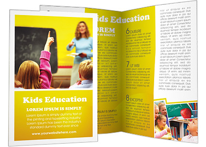 Contoh brosur sekolah pendidikan free download templates for Educational brochure templates