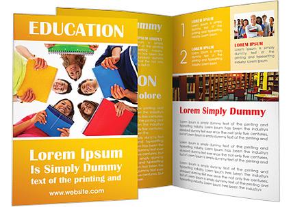 student brochure template - contoh brosur sekolah pendidikan free download templates