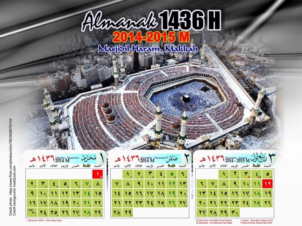 Kalender Hijriyah 1436 2015 Gambar Masjid Terkenal - Kalender-Hijriyah-1436-2015-01-Masjidil-Haram-Makkah-1024x768