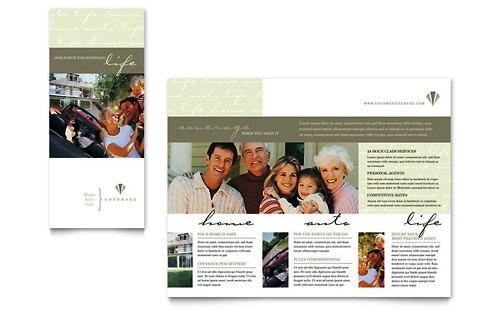 36 Contoh Desain Pamflet dan Brosur Jasa Keuangan - Brochure & Pamphlet Design-Asuransi-Jiwa-dan-Kendaraan
