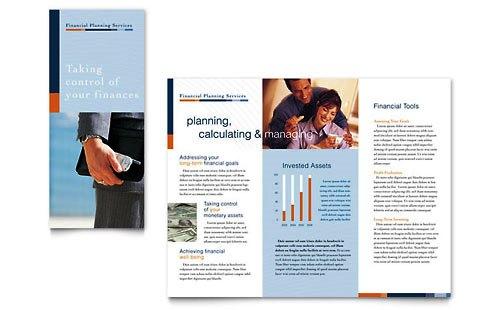 36 Contoh Desain Pamflet dan Brosur Jasa Keuangan - Brochure & Pamphlet Design-Konsultan-Perencana-Keuangan