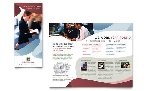 36 Contoh Desain Pamflet dan Brosur Jasa Keuangan - Brochure & Pamphlet Design-Layan-Akuntansi-Pajak