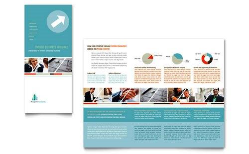 36 Contoh Desain Pamflet dan Brosur Jasa Keuangan - Brochure & Pamphlet Design-Lipat-Tiga-Konsultan-Manajemen
