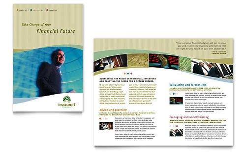36 Contoh Desain Pamflet dan Brosur Jasa Keuangan - Brochure & Pamphlet Design-Manajemen-Investasi