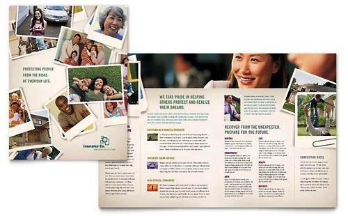 Contoh Desain Pamflet dan Brosur Jasa Keuangan Finansial dan Investasi