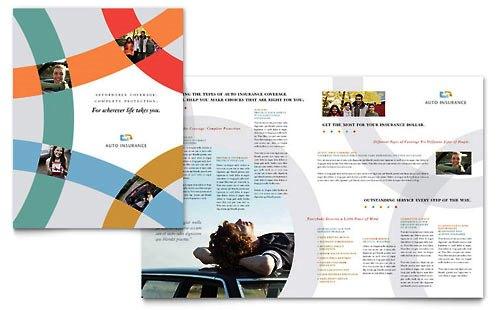 36 Contoh Desain Pamflet dan Brosur Jasa Keuangan - Brochure & Pamphlet Design-Perusahaan-Asuransi-Mobil