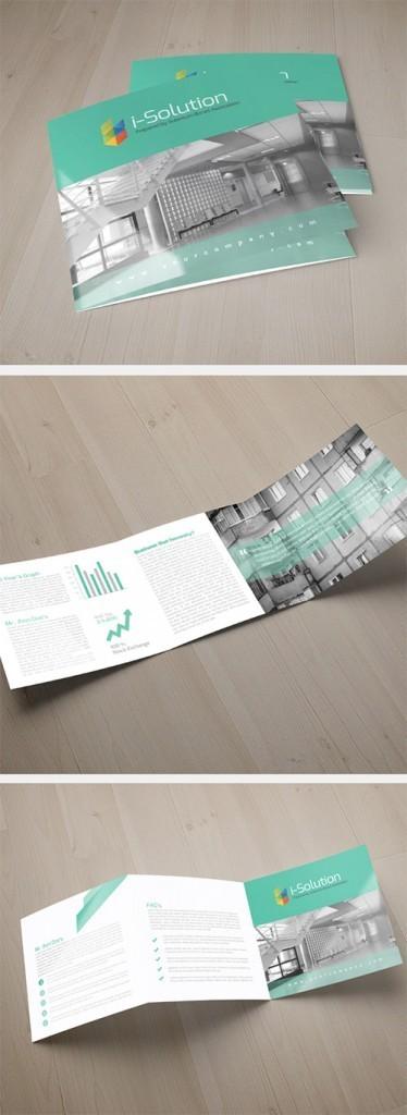 Contoh Desain Brosur Lipat Tiga - Contoh-Desain-Brosur-Lipat-3-terbaru-Multi-Use-Business-Square-Trifold