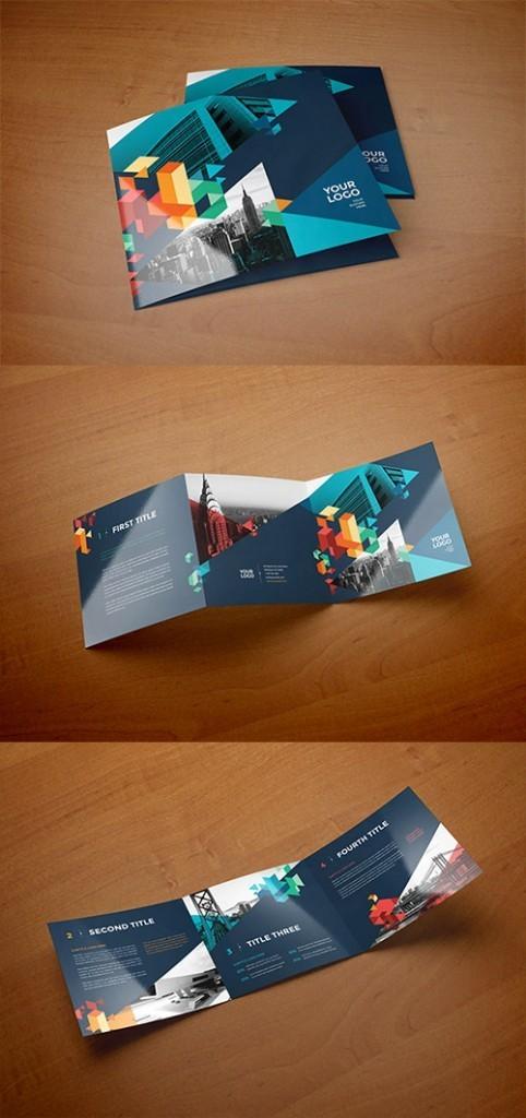 Contoh Desain Brosur Lipat Tiga - Contoh-Desain-Brosur-Lipat-3-terbaru-Square-Colorful-Blue-Trifold