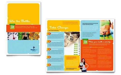 Desain Brosur Pamflet Kesehatan dan Medis - Contoh-Pamflet-Brosur-Klinik-Terapi-Penuruan-Berat-Badan