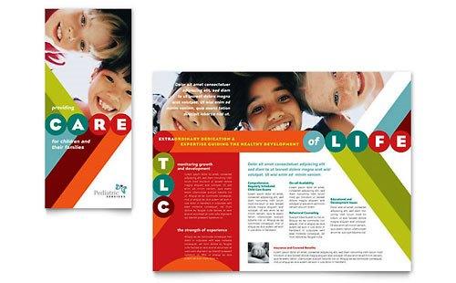 Desain Brosur Pamflet Kesehatan dan Medis - Contoh-Pamflet-Brosur-Perawatan-Kesehatan-Anak