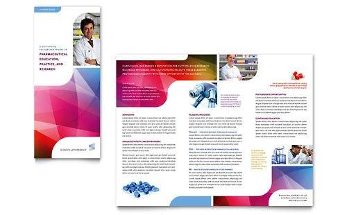Desain Brosur Pamflet Kesehatan dan Medis - Contoh-Pamflet-Brosur-Sekolah-Farmasi