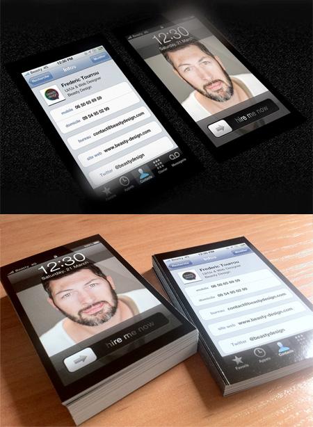 17 Kartu Nama Bisnis Desain Modern - Desain-Kartu-Nama-Bisnis-Desain-Modern-iPhone