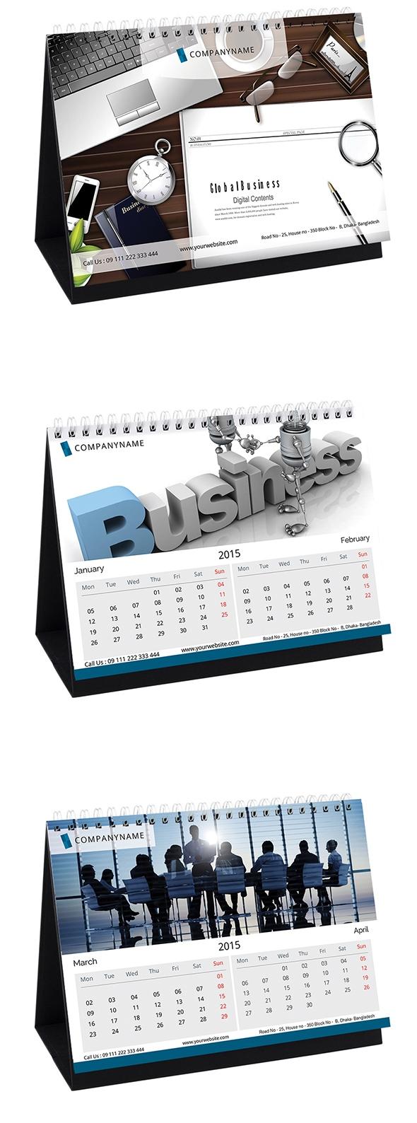Template Kalender Meja - Kalender-Meja-2015-09-2015-Desk-Calendar-PSD-DESIGN