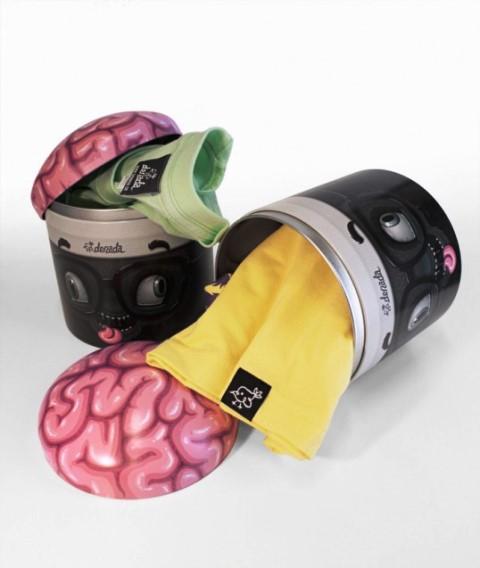 Desain Kemasan Packaging Kaos T Shirt Kreatif Bagus - Kemasan-T-Shirt-Kepala-dan-otak-manusia
