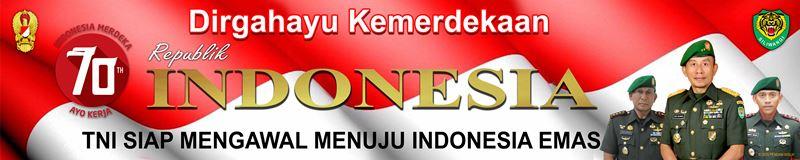 Banner Dirghayu Kemerdekaan RI KODIM 0604 Karawang - Pangdam Danrem Dandim