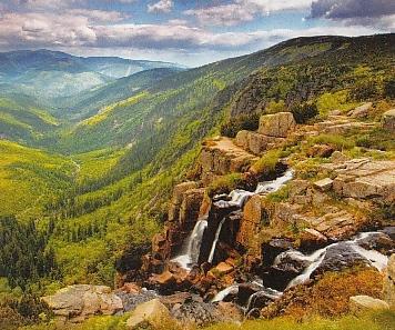 Elbe Waterfall, Krkonose, Czech Republic