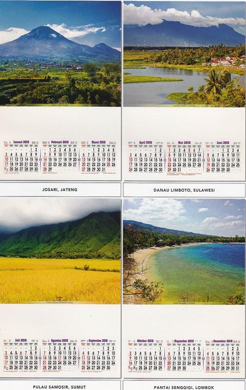 Desain Kalender 2016 Pro 3 Bulanan AO Beautiful