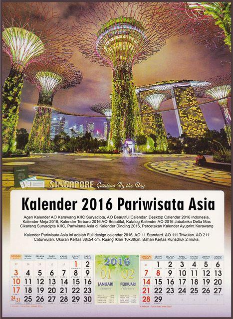 Kalender 2016 Pariwisata Asia