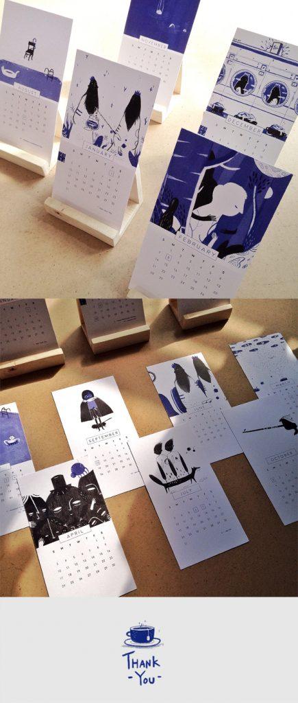 5 Tips Wajib Ketika Mendesain Kalender 2016 - Black-and-Blue-2016-Desk-Calendar