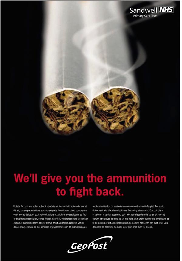 Contoh Poster Kesehatan tentang Anti Rokok No Smoking