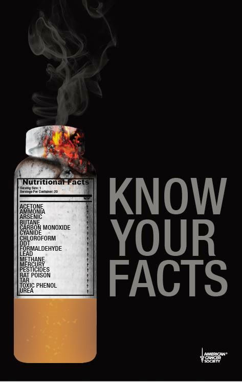 33 Contoh Poster Kesehatan tentang Anti Rokok No smoking - Know-Your-Facts
