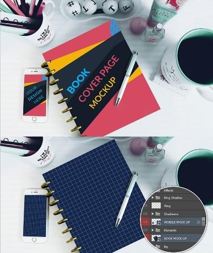 Contoh dan Template Desain Kover Buku Download PSD 07