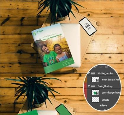 Contoh dan Template Desain Kover Buku Download PSD 08