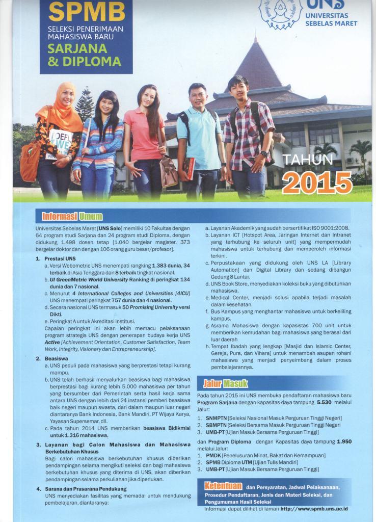Desain Brosur Kampus Universitas Terbaik di Indonesia