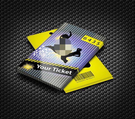 Contoh Desain Tiket 03