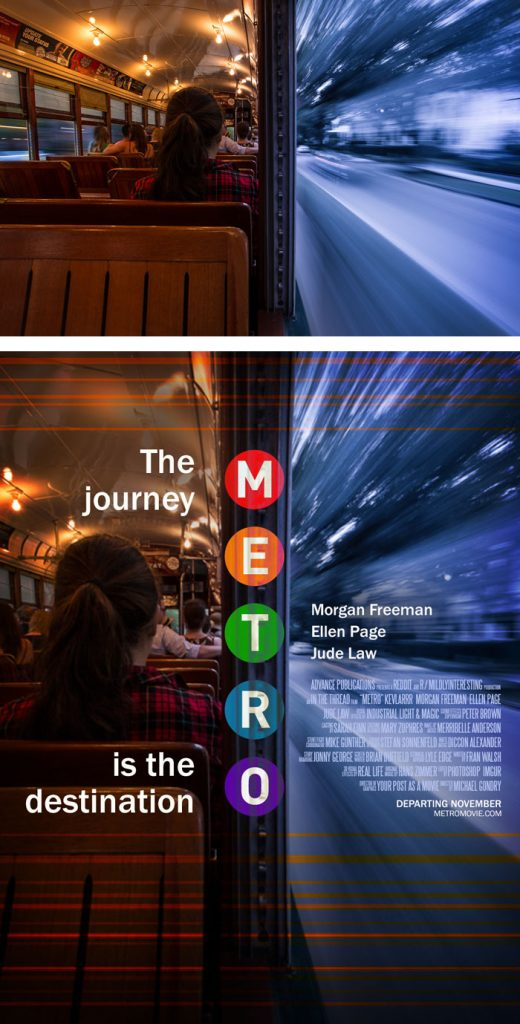 Desain Poster Film dari Foto Biasa 56