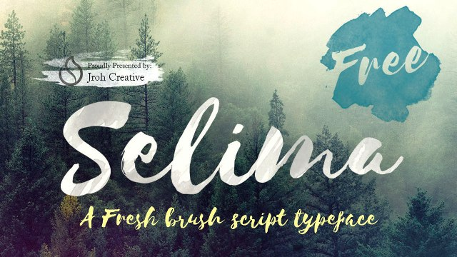 Font Brush Photoshop Terbaik Gratis