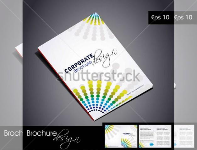 Brosur Perusahaan Untuk Company Profile Bisnis 30 Contoh Desain