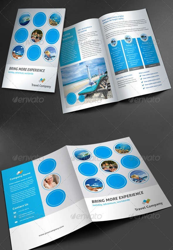 Desain Brosur Tour Dan Travel Template Download Premium