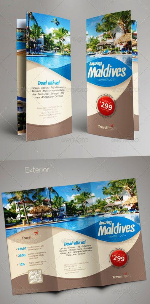 17 Desain Brosur Tour Dan Travel Template Download Premium - Fourlook