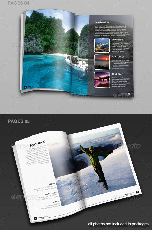17 Desain Brosur Tour dan Travel Template Download Premium