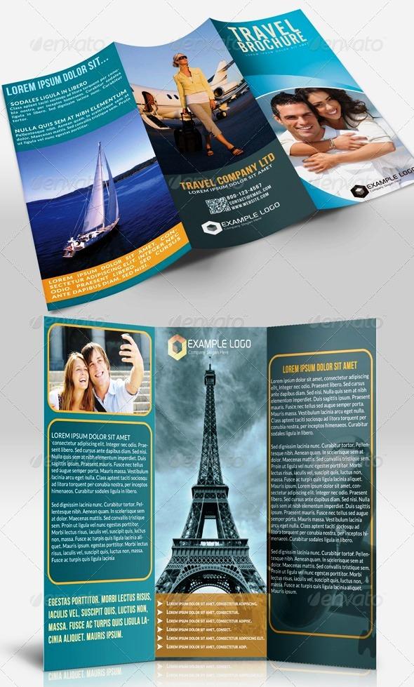 desain brosur tour dan travel template download premium