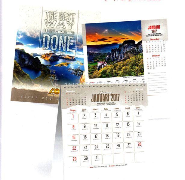 Kalender Meja Eksekutif 2017 Pemandangan Alam Dunia
