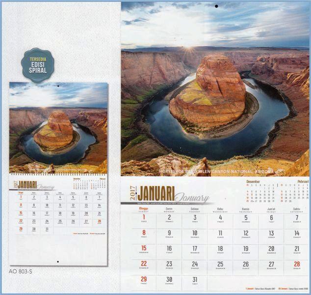 Kalender 2017 Layout Executive Gambar Indahnya Dunia