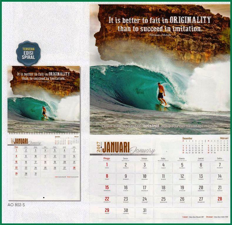 Kalender executive 2017 bergambar kalimat motivasi inspirasi
