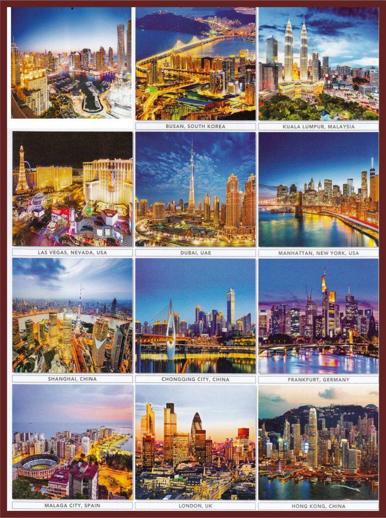 Kalender AO 2017 desain executive bergambar metropolitan dunia