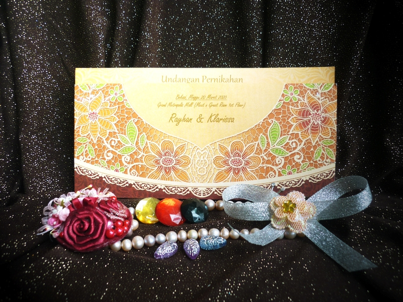Blangko Undangan Pernikahan iCard Wedding Invitation President Card