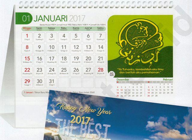 Kalender Meja 2017 Islamic Arabic Kaligrafi Doa Blangko AO 929