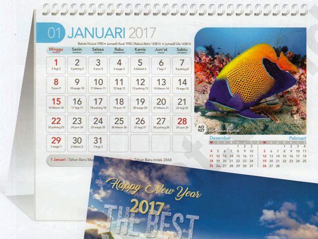 Kalender Meja 2017 AO 927 Fauna Dunia Ikan Laut
