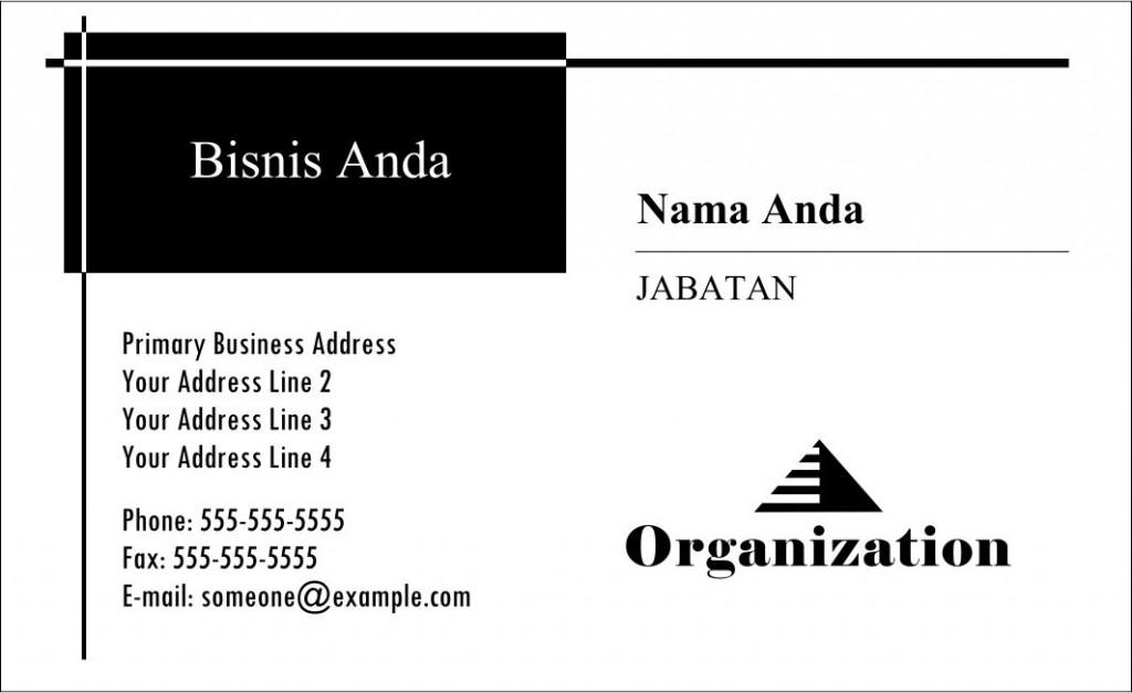 Kartu Nama Gratis Download