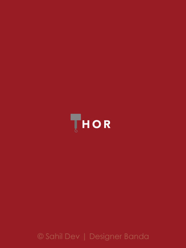 poster super hero Marvel DC komik dengan desain minimalis