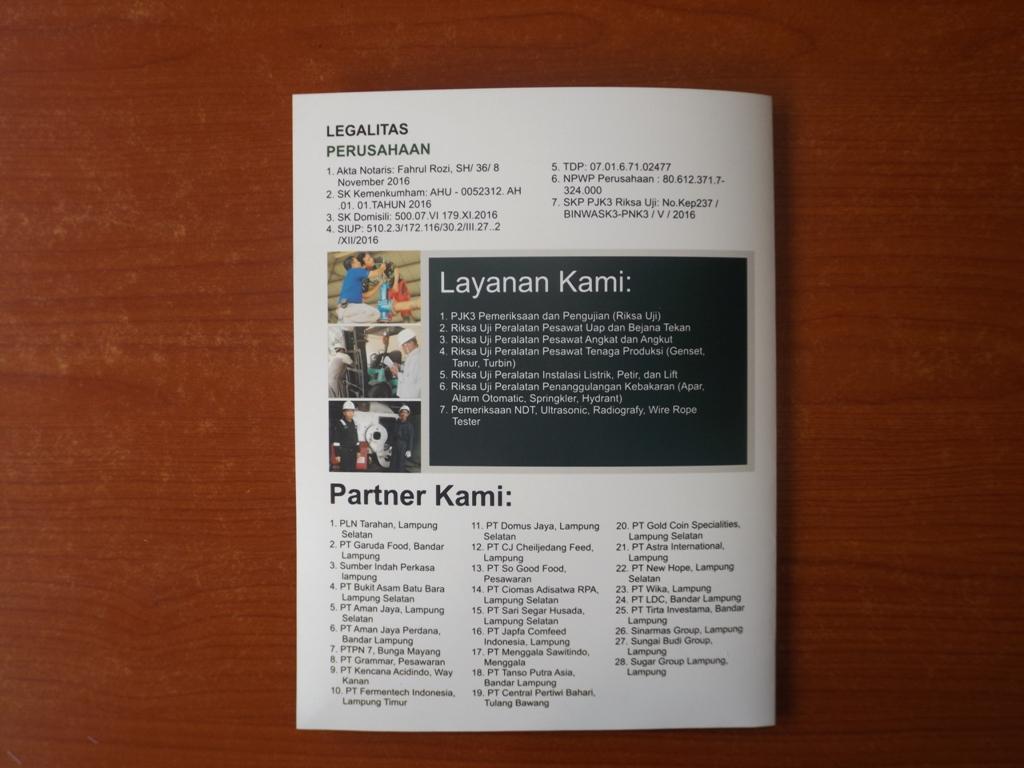 Company Profile Perusahaan PJK3 Riksa Uji