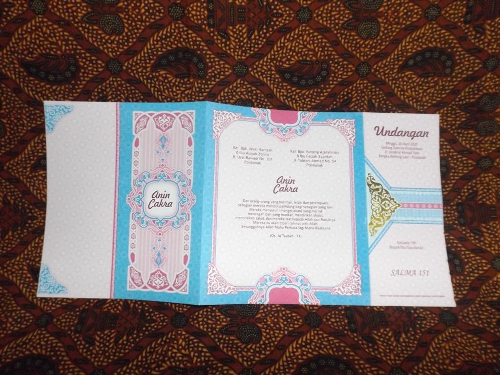 Kartu Undangan Pernikahan Islami Salma Katalog Percetakan dan Blangko