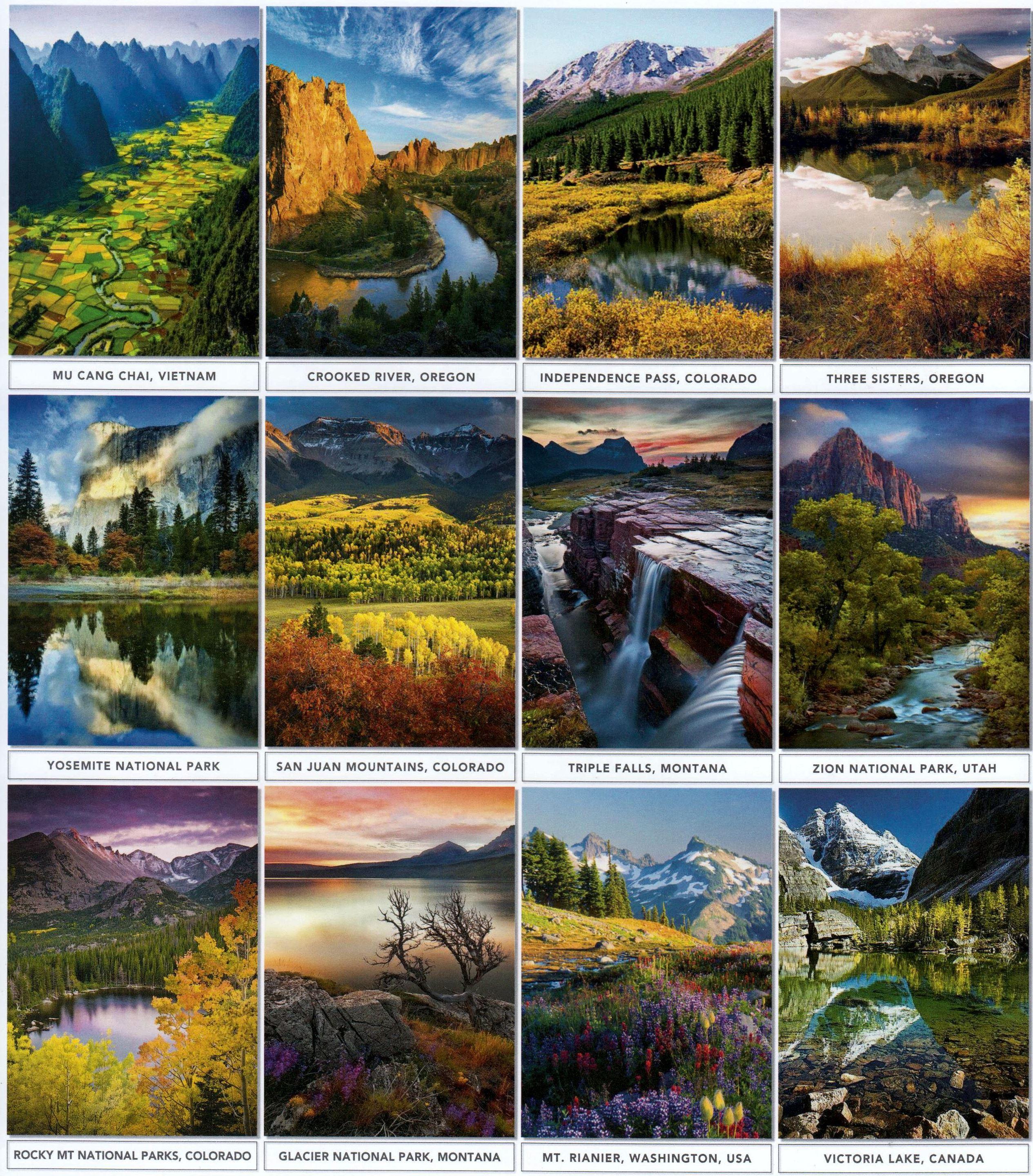 Kalender Meja 2018 Nuansa Pemandangan Alam Dunia AO 7702