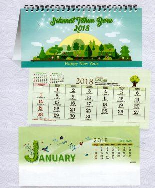Kalender Meja 2018 Love Nature AO 3000
